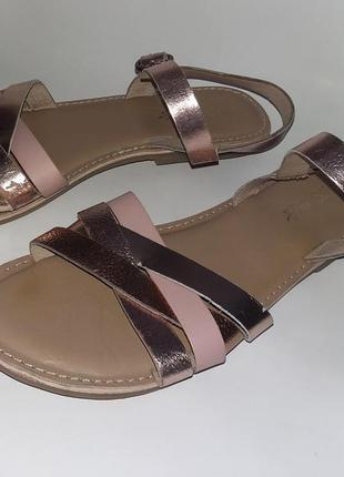 Босоножки сандалии next р.37 кожа индия