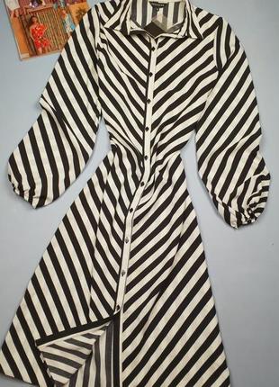 Новое платье в полоску миди peacoks p.10