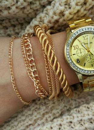 Уценка! наручные женские часы geneva brilliant золото