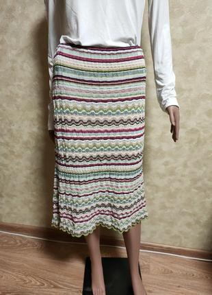 Лёгкая миди юбка в полоску от люкс бренда marc cain