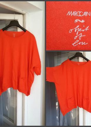 Яркий обьемный свитер джемпер оверсайз marc cain / шерсть  шелк кашемир
