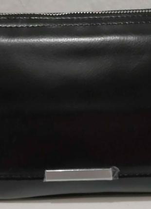 Женская кожаная сумка кросс-боди (чёрная) 20-02-008