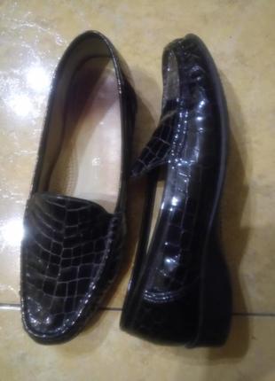 Лакированные туфли мокасины балетки 100 % кожа португалия