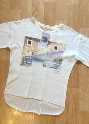 Стильная футболка для мальчика mango, размер 5-6 лет, 110-116
