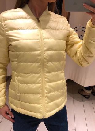 Куртка бомбер лимонного цвета курточка house размер xs
