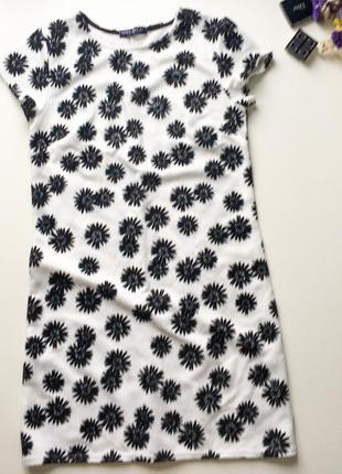А-образное платье с цветочным принтом