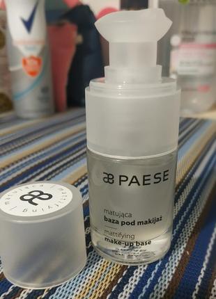 База под макияж матирующая mattifying base paese