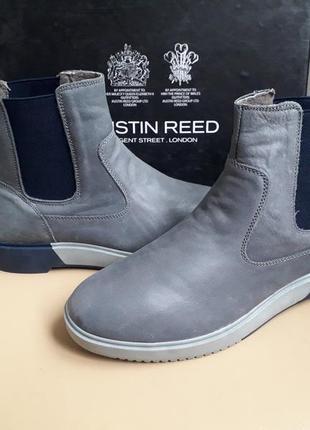 38,39,40 p. austin reed кожаные стильные деми ботинки челси