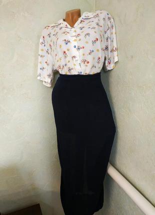 Marc cain/брендовая воздушная шелковая юбка миди