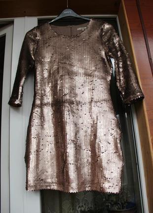 Платье,плаття, пайетки, паєтки, золотое,нарядное, золоте