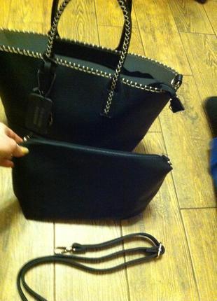 Розпродаж сумка шопер с косметичкой италия   подарок