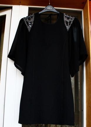 Платье, вышитое бисером,плаття,сукня,черное, чорне,