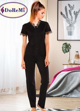 Элеганная женская пижама с елементами кружева/піжама