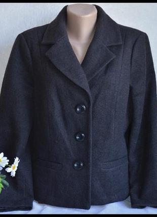 Брендовое коричневое шерстяное демисезонное пальто полупальто пиджак с карманами bm