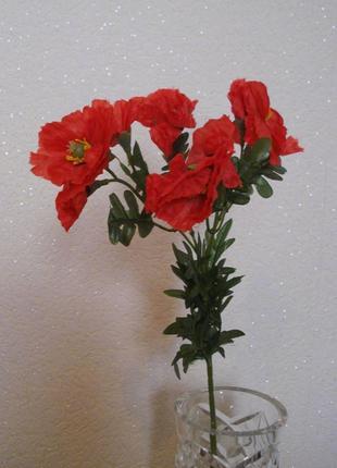 Искусственные цветы маки