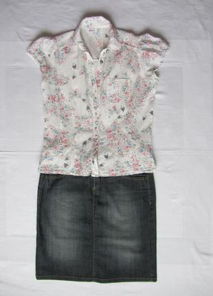 Классная стильная блузочка рубашка denim co