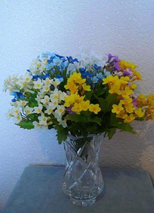 Искусственные цветы незабудки