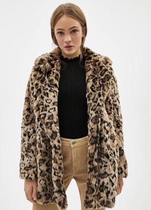 Леопардовая шуба bershka
