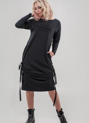 Стильное модное платье свободного кроя