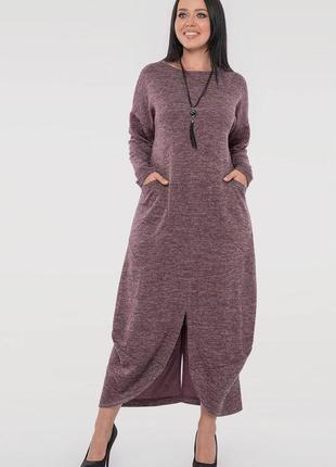 Теплое платье свободного кроя