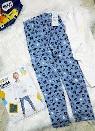 Крутая пижама с привидениями🖤 рост 110-116