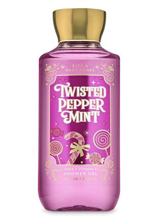 Гель для душа bath & body works twisted peppermint