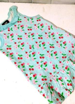 Летнее платье вишенки на 1,5-2 г. h&m