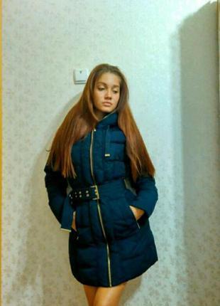 Zara пуховик куртка зима
