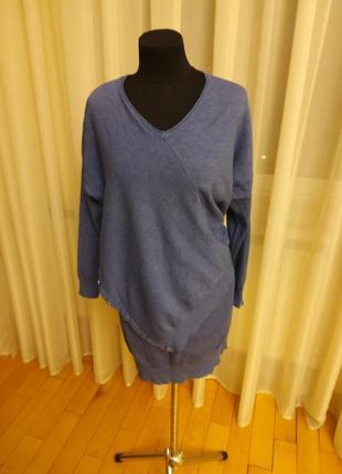 Длинный свитер туника интересного фасона h&m раз.52-54