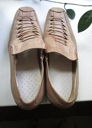 Летние мужские кожаные туфли