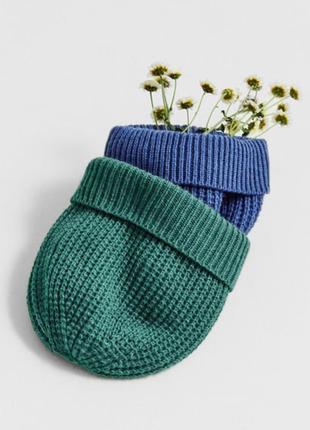 Брендовая шапка шапочка zara темно синяя обьем 19 см