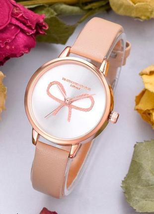 Стильные женские часы с бантиком