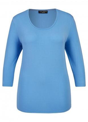Базовый джемпер ярко-голубого цвета от люксового бренда via appia размер 22-24