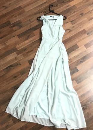 Платье на запах, длинное вечернее платье boohoo