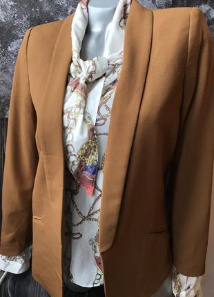 Пиджак жакет удлинённый горчичного цвета новый h&m размер s , m