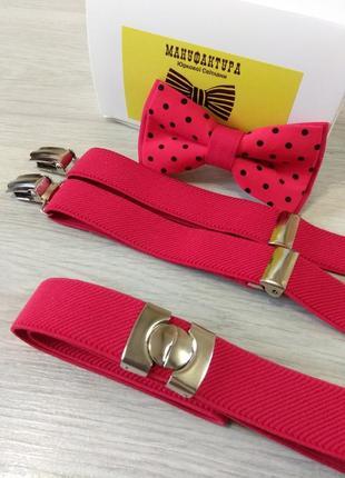 Красивый галстук бабочка в красном цвете. метелик дитячий.