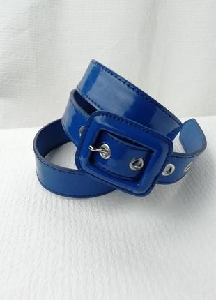 Синий женский ремень