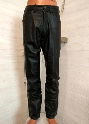 Мужские кожаные байкерские штаны gericke 48 р