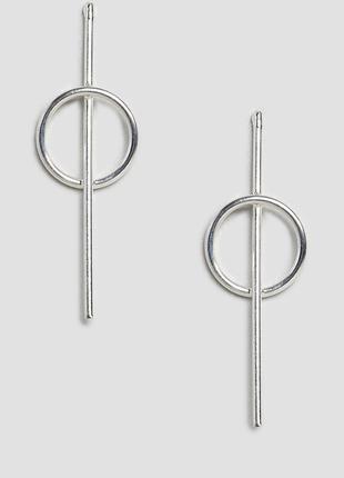 Срібні сережки підвіски, серьги гвоздики, серебряные серьги подвески kingsley ryan asos