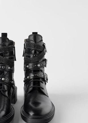Шкірянні черевики / кожаные ботинки zara