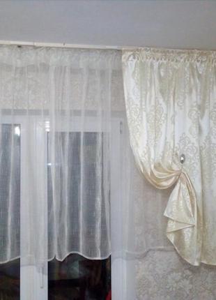 Комплект тюль и штора