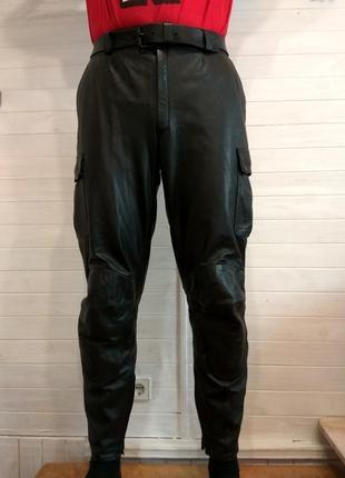 Мужские кожаные байкерские штаны polo road 52\l