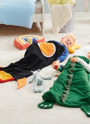 Плед мешок плюшевый динозавр длина 107 meradiso германия