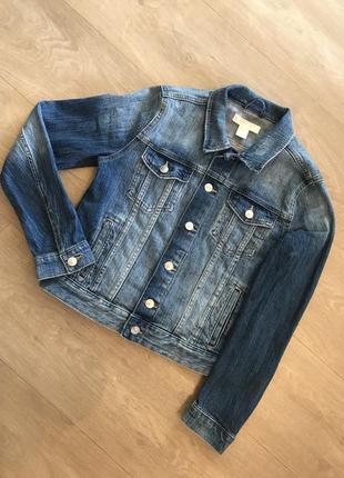 Классный   джинсовый пиджак h&m