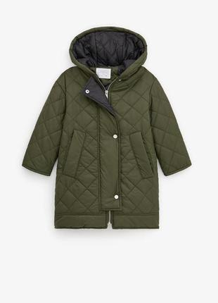 Стёганная куртка - пальто zara 140 см 164 см