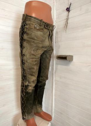 Мужские кожаные байкерские штаны louis  52 р