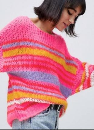 Яркий свитер оверсайз джемпер кофта от stradivarius