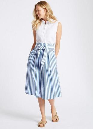 Очень красивая натуральная полосатая юбка