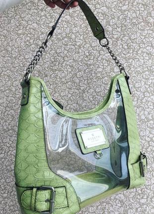 Брендовая сумка rosetti new york с прозрачными виниловыми вставками, твердая фактура