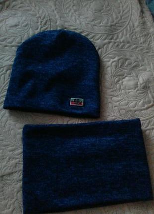 Комплект шапка і шарф хомут